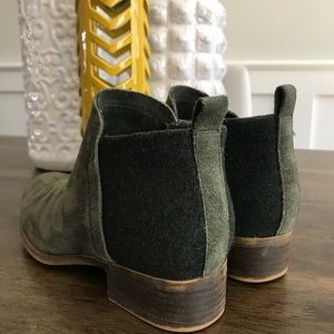 toms suede booties :: size 6.5